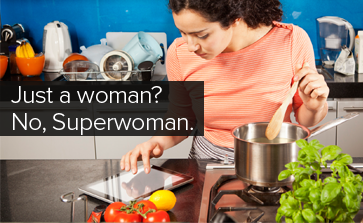 Just a woman? No, Superwoman
